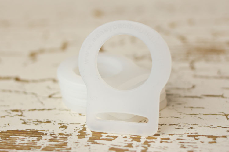 Adapter - Clear Button Pacifier Ring