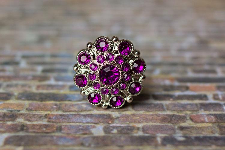 Special - Purple Rhinestone Button