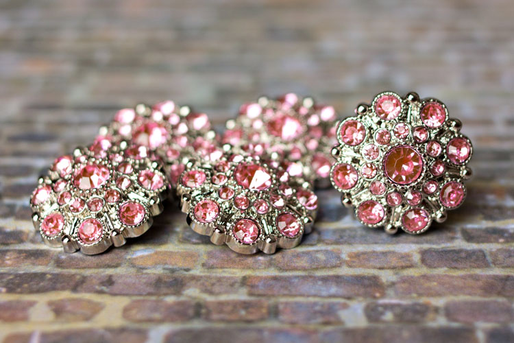 Special - Light Pink Rhinestone Button