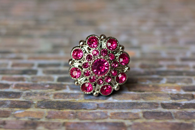 Special - Hot Pink Rhinestone Button