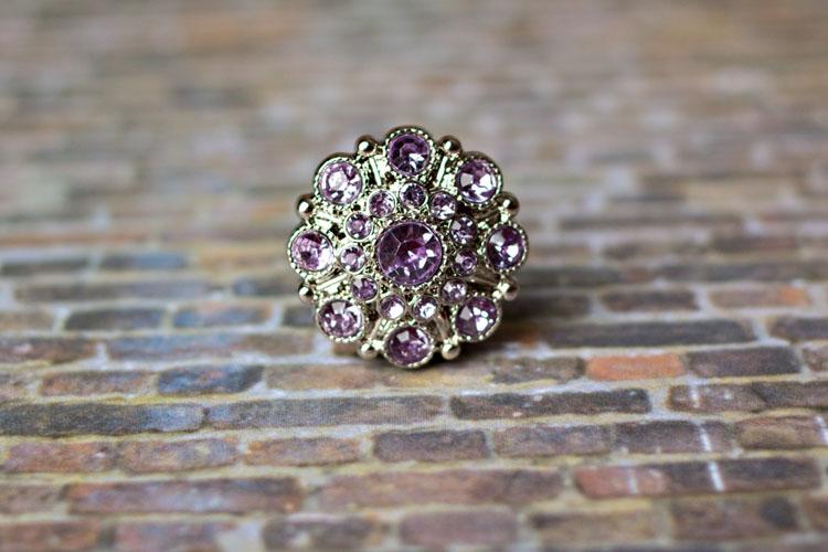 Special - Lavender Rhinestone Button