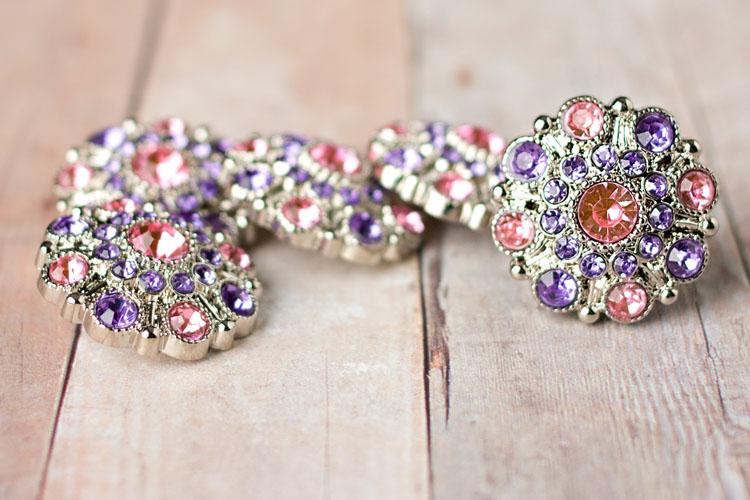 Special - Light Pink/Lavender Rhinestone Button
