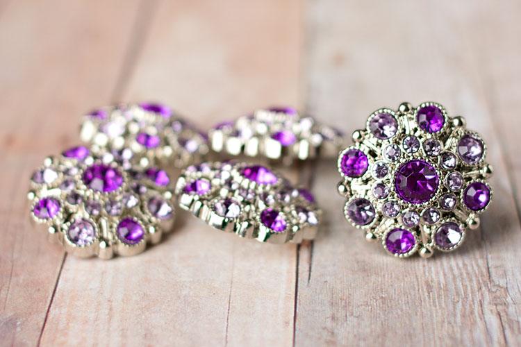 Special - Purple/Lavender Rhinestone Button