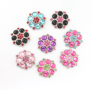 Blingy Rhinestone Button Abbey-Multi