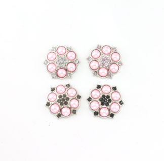 Blingy Rhinestone Button Abbey-Pink Pearl