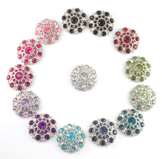Blingy Rhinestone Button Special Solids