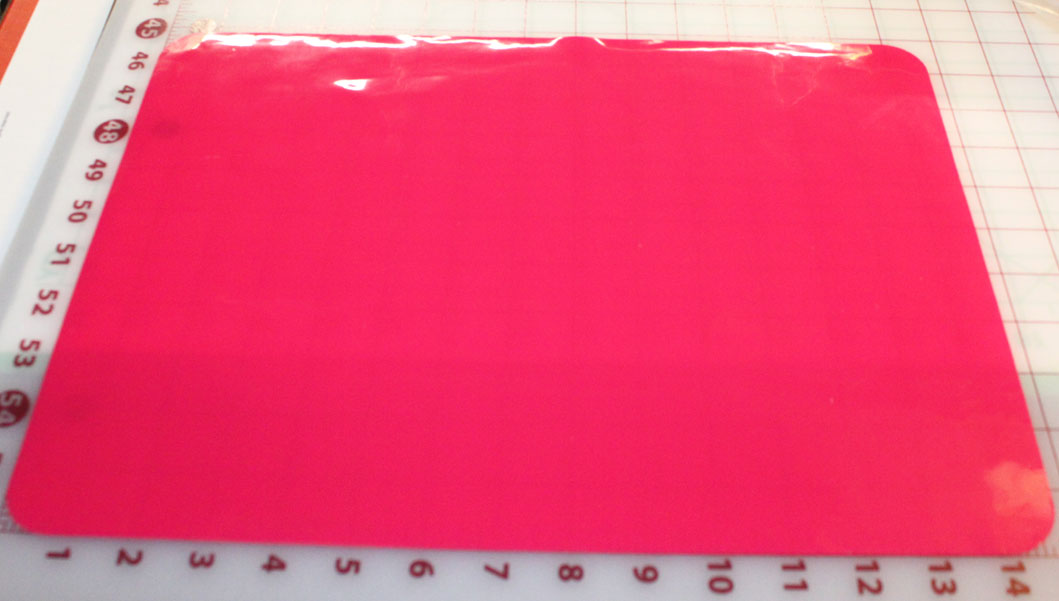 Shocking Pink Silicone Mat